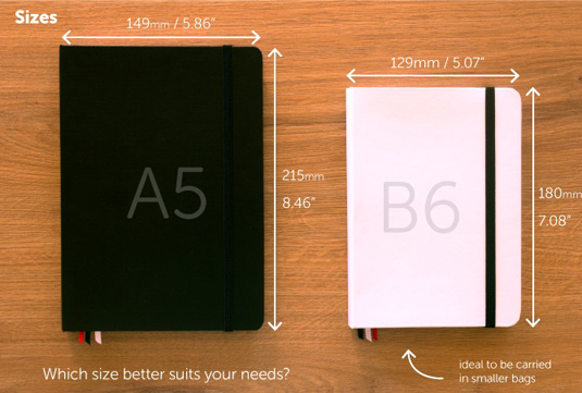 Mixiw notebook sizes