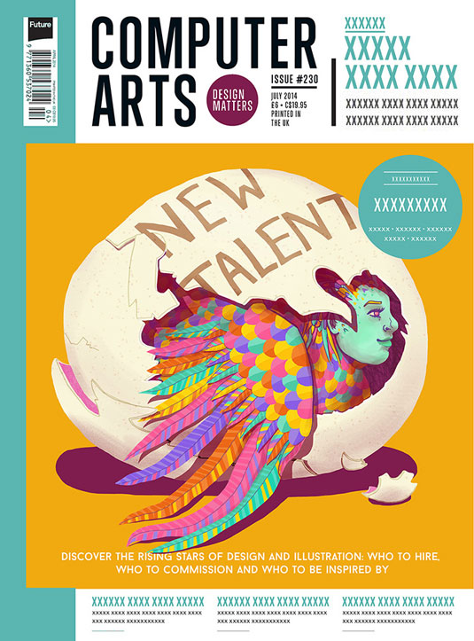Cover design for CA's New Talent issue by Abi Stevens