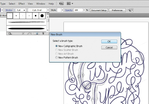 Use the Calligraphic Brush tool: step 4