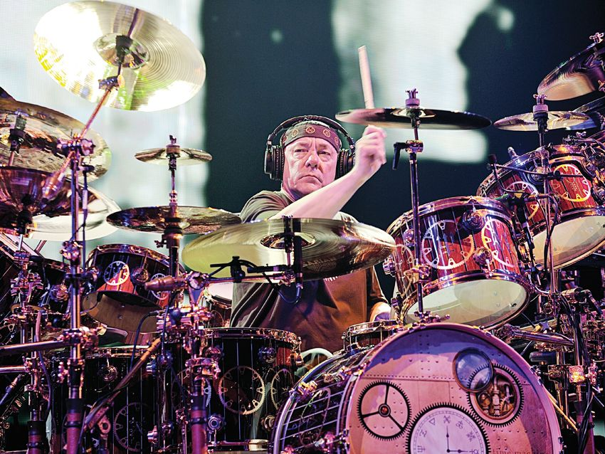 neil peart 39 s time machine drum setup in pictures musicradar. Black Bedroom Furniture Sets. Home Design Ideas