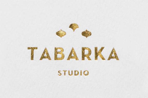 Anagrma used a gold foil print finish for Tabarka Studio's business cards