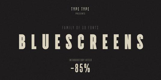 TT Bluescreens font