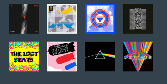 CSS3 animation: Album covers