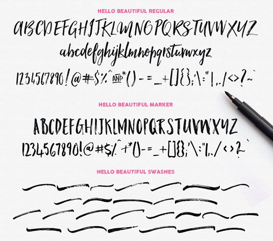 Hello Beautiful font