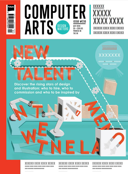 Cover design for CA's New Talent issue by Clare Dolan