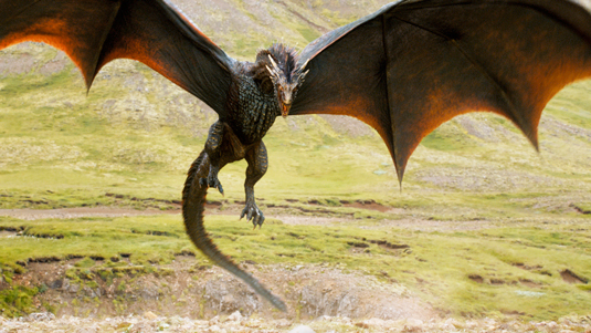 drogon the dragon wings spanned