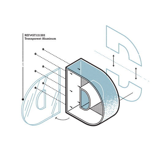 exploded typography