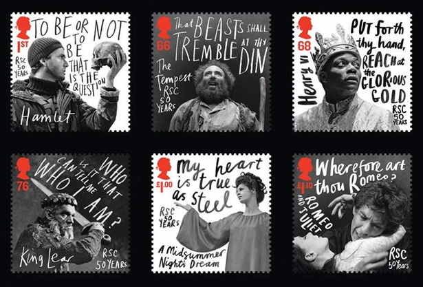 Handwritten Royal Mail stamps by Marion Deuchars
