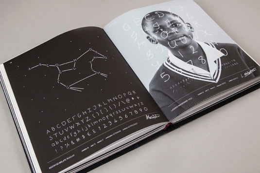 The 200 'Fonts For The Future' are also showcased in book form