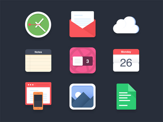 Free icons flat icons psd