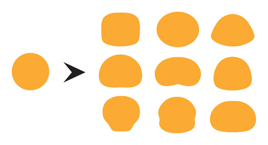 Kawaii design: avoid perfect circles