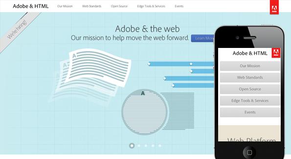 Best responsive websites: Adobe & HTML