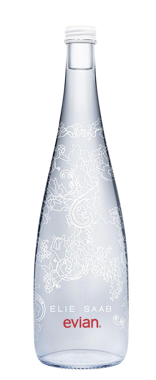 evian water bottle design
