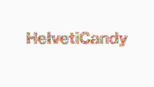 Free font: HelvetiCandy