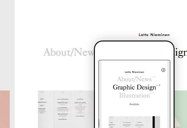 Best responsive websites: Lotta Nieminen