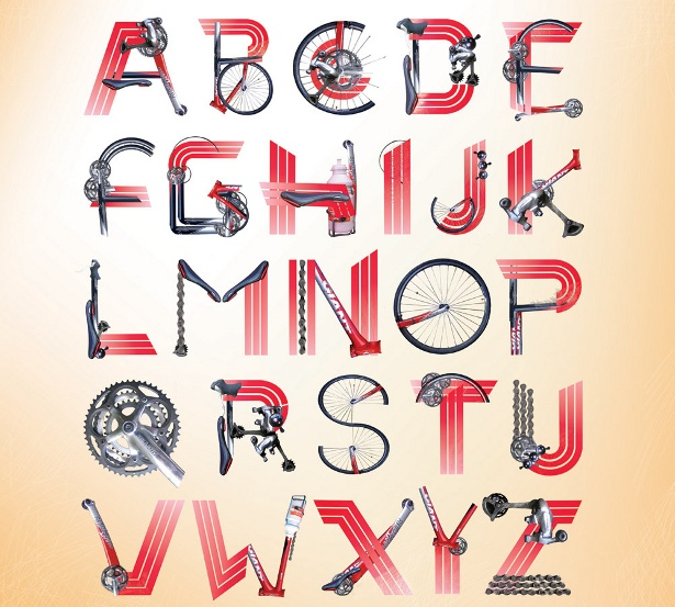 Jilly Cooper - Bicycle Typeface