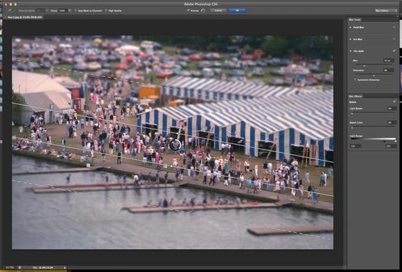 Photoshop CS6: Tilt Shift