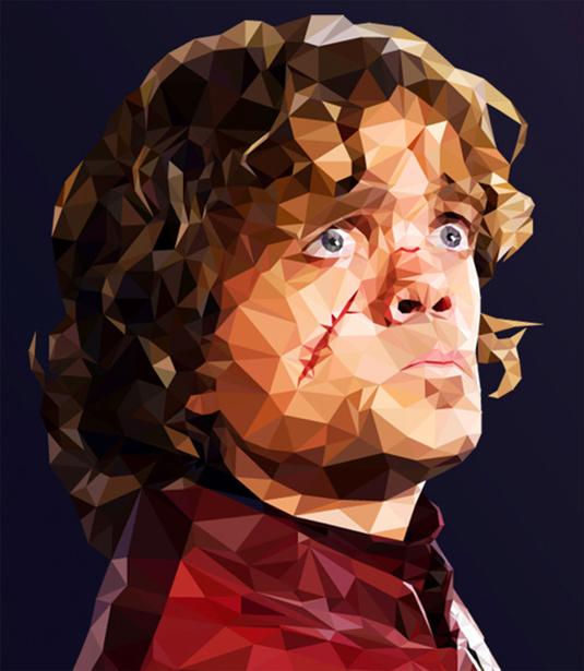 Game of Thrones polygon portraits