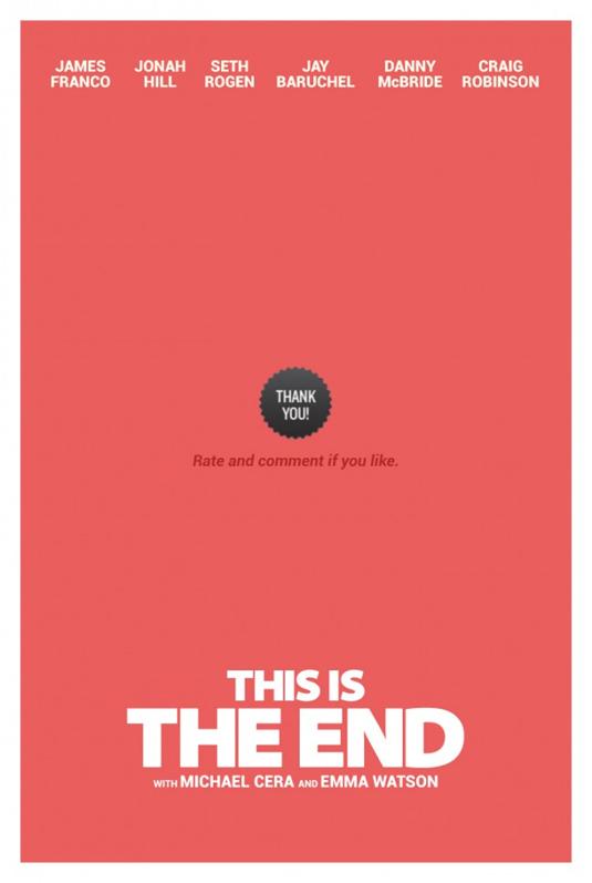 minimalist film posters