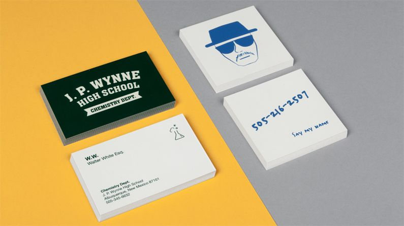 Character Design Business Card : Business card designs for famous fictional characters