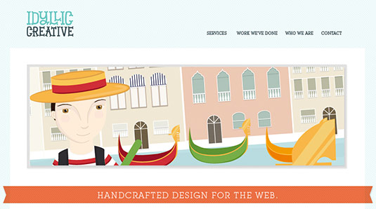 Sliders in web design: Idyllic Creative