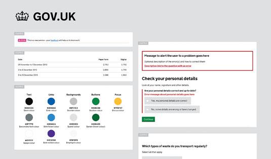 UI design: gov.uk