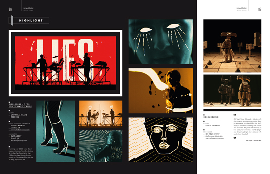 Spread from the In Motion section of the Illustration Annual