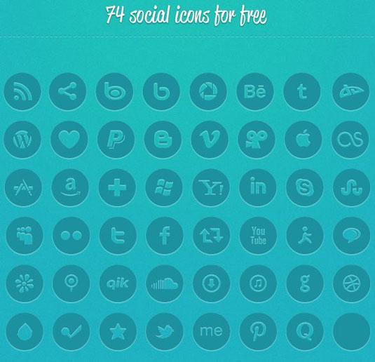 Social media icons pack