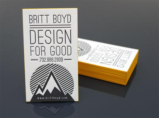 letterpress business cards: Britt Boyd