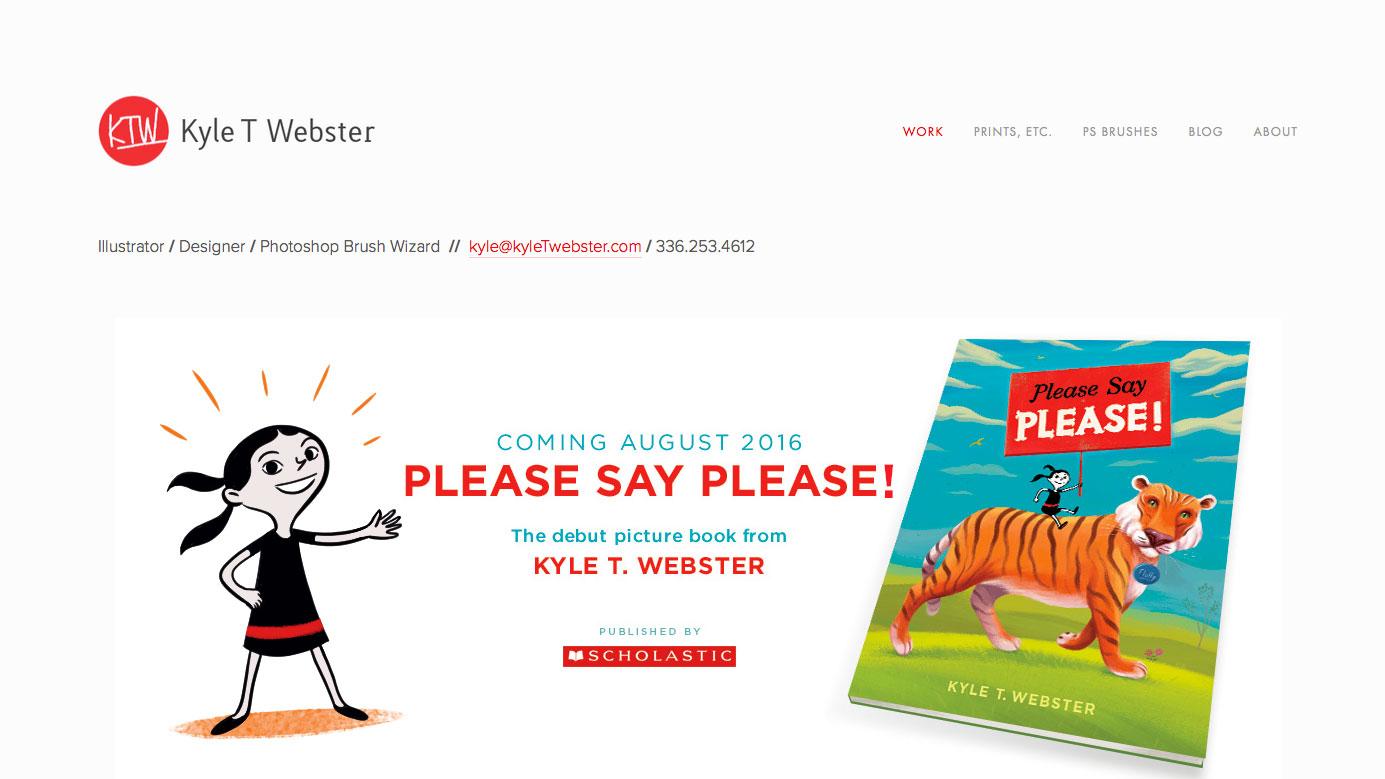 Inspiring design portfolios: Kyle T Webster