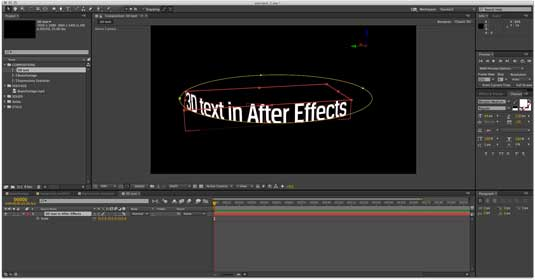 Beginner's After Effects animated text