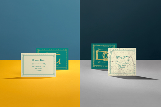 famous fictional character business cards