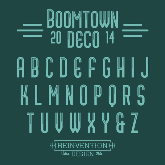 Free fonts: Boomtown Deco