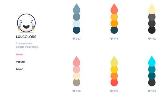web design tools: lolcolors