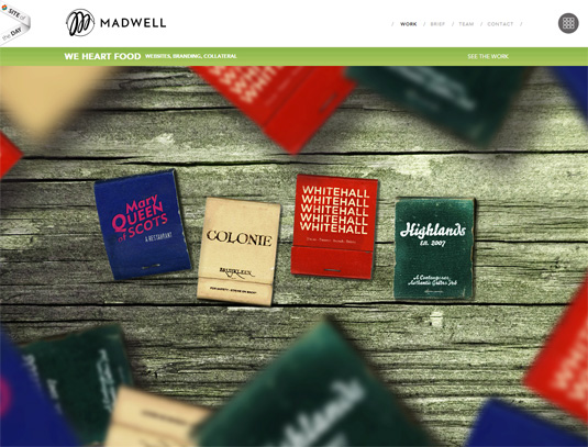 parallax scrolling tips: Madwell homepage