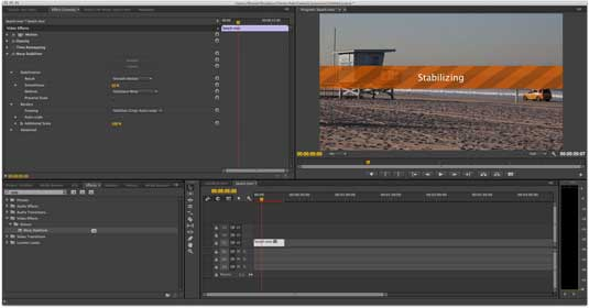 Premiere Pro image stabilisation