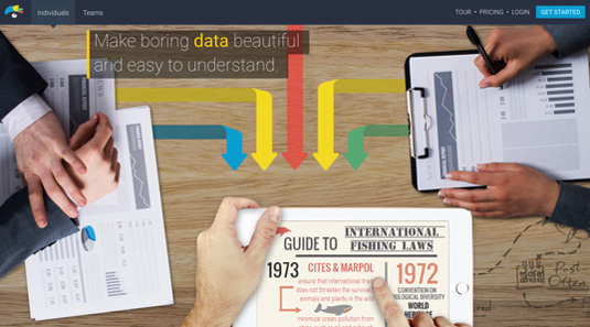 Best tools for creating infographics: Visme