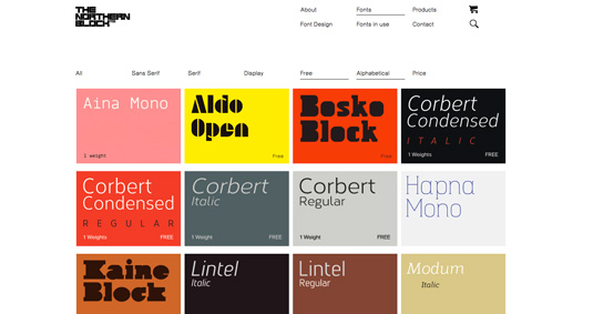 Free font resources: The Northern Block