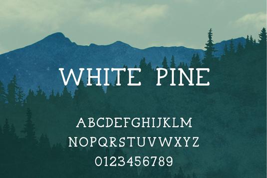 Free font: White Pine