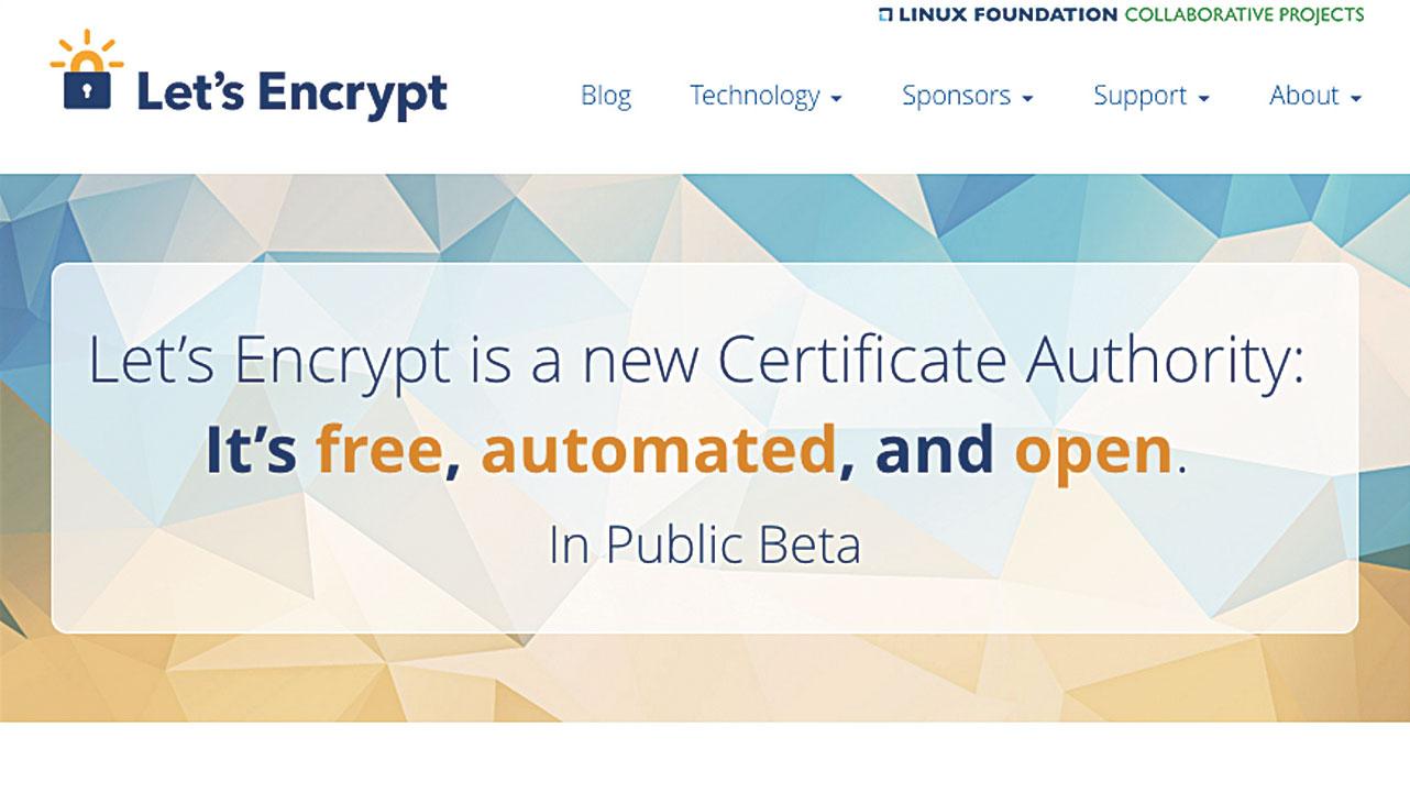 50 free web tools - Let's Encrypt