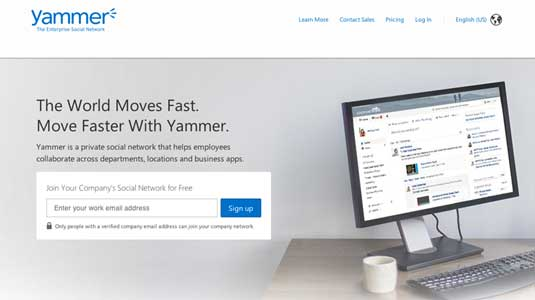 Online collaboration tools: Yammer