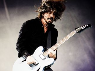 Dave Grohl onstage at T In The Park 2011