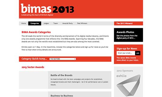 Win a design award: Bima categories