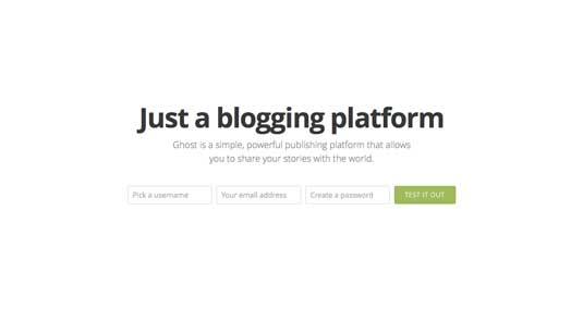 Best blogging platforms: Ghost
