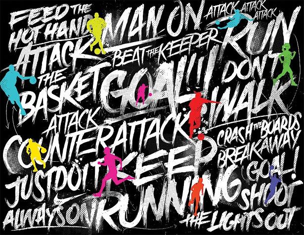 AJ Dimarucot - Nike Sportswear background illustrations