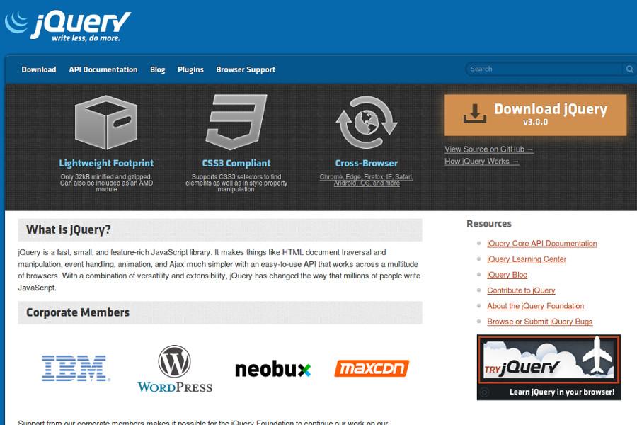 web design tools: jquery