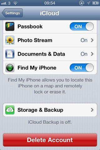 Как удалить из icloud на iphone 6
