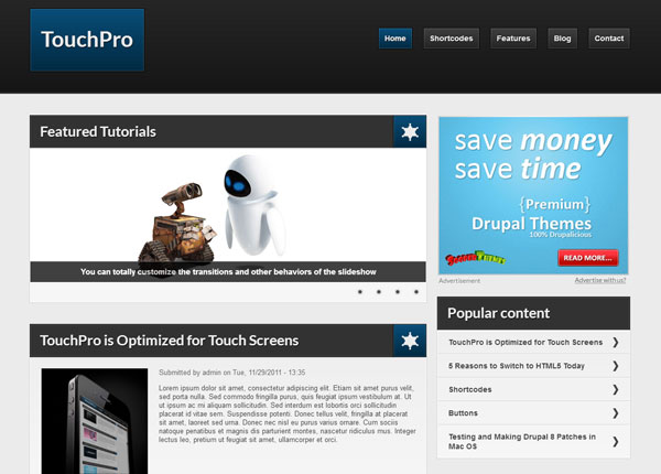 Drupal themes - TouchPro