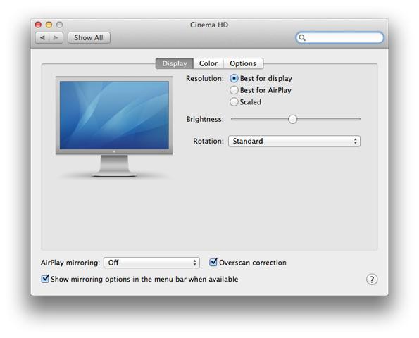 OS X 5.8 Mountain Lion: Airplay
