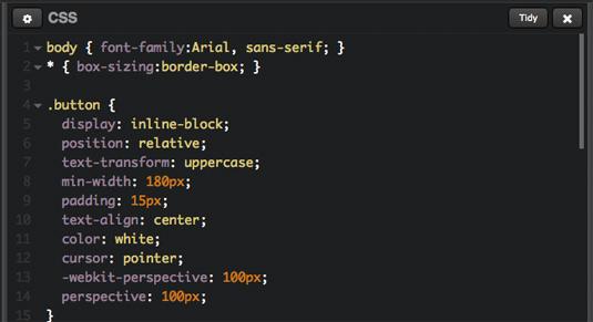 CSS 3D code